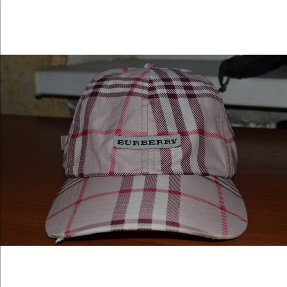 35da89f404a Burberry Accessories - Burberry Pink Plaid Check Hat